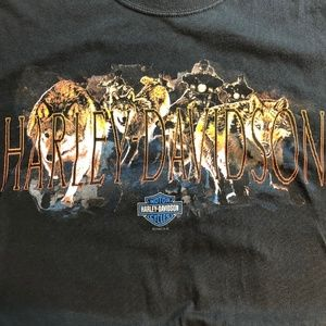 Harley Davidson Motorcycle 2005 Wolf Pack T Shirt